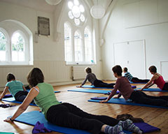 Yoga class in Pure Moves main studio