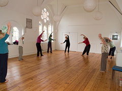 Qigong class in Pure Moves main studio